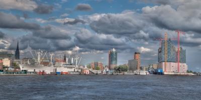 Panorama Hafen Hamburg  - JA029374 (HDR)