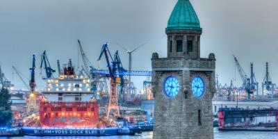 Panorama Hamburg Blue Port 2014 - JA032157 (HDR)