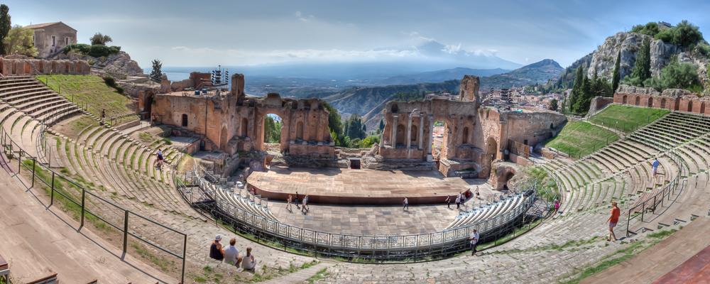 Taormina, Sizilien Panorama JA029688 (HDR)