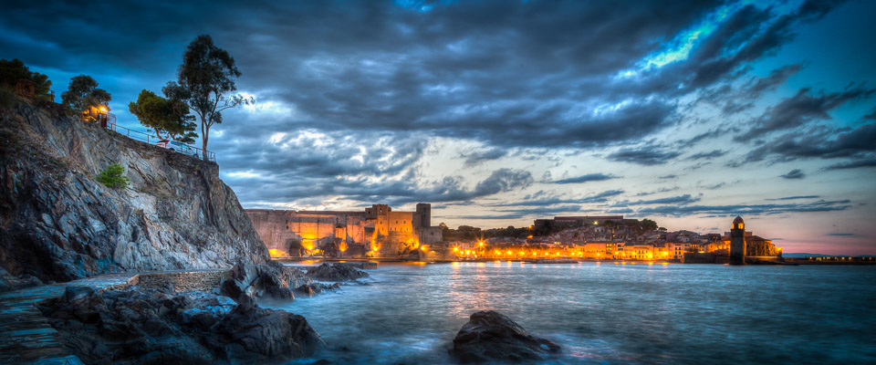 Nightfall in Collioure